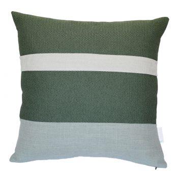 Sierkussen groen grijs voorzijde