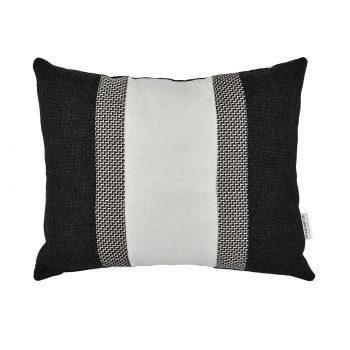 Sierkussen colorblock mini zwart grijs voorzijde