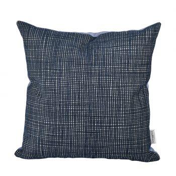 Sierkussen Prints Blauw grijze ruit lavendel voorzijde